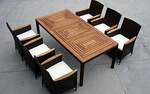 Baidani-Gartenmbel-Sets-10d0001400002-Designer-Garnitur-Balance-XXL-1-Tisch-6-Sthle-Sitzauflagen-braun-0