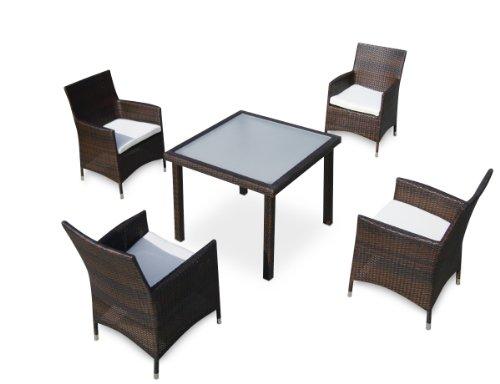 Baidani-Gartenmbel-Sets-10d0001500001-Designer-Lounge-Essgruppe-Evolution-1-Tisch-mit-Glasplatte-4-Sessel-Sitzauflagen-schwarz-0
