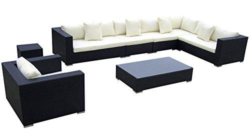 Baidani-Rattan-Lounge-Garnitur-Sun-Master-25-teilig-schwarz-0