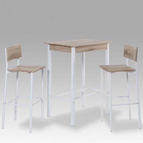 Bartisch Zahan mit 2 Stühlen (3-teilig) Pharao24