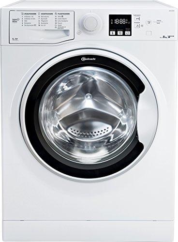 Bauknecht WA Soft 8F42PS Waschmaschine Frontlader/A+++ -20%/1400 UpM/langlebiger Motor/Nachlegefunktion/Wasserschutz/weiß