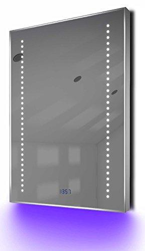 Beleuchteter Badschrank mit Spiegelheizung, Sensor & Rasierersteckdose K78R