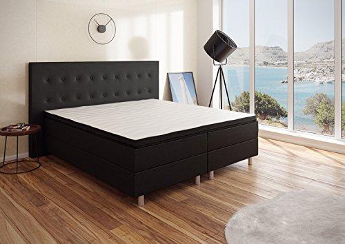 Best For You Boxspringbett RIO Barcelona 5-Zonen mit QUALITÄT VISCOSE Topper H3 First Class Bett in verschiedenen Farben und Größen