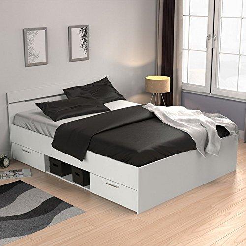 Bett Doppelbett Polsterbett Funktionsbett Bettrahmen Michigan 140 x 200 cm