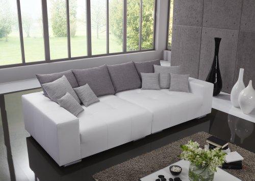 Big Leder Sofa - Made in Germany - Italienisches Leder - Freie Farbwahl ohne Aufpreis aus 26 Lederfarben - Nahezu jedes Sondermaß möglich! Sprechen Sie uns an. Info unter 05226-9845045 oder info@highlight-polstermoebel.de