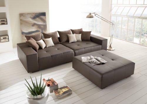 big leder sofa mit hocker made in germany italienisches leder freie farbwahl ohne aufpreis. Black Bedroom Furniture Sets. Home Design Ideas