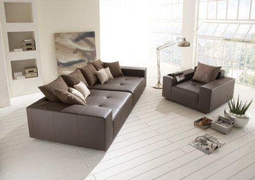 Big Leder Sofa mit Sessel - Made in Germany - Italienisches Leder - Freie Farbwahl ohne Aufpreis aus 26 Lederfarben - Nahezu jedes Sondermaß möglich! Sprechen Sie uns an. Info unter 05226-9845045 oder info@highlight-polstermoebel.de