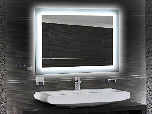 Bilderdepot24 Beleuchteter LED Wandspiegel Badspiegel Spiegel - 65x50 cm