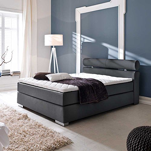 boxspring bett fr jugendzimmer schwarz 3 teilig breite 122 cm liegeflche 120x200 pharao24 0. Black Bedroom Furniture Sets. Home Design Ideas
