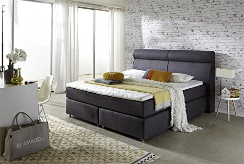 Breckle Boxspringbett 160 x 200 cm Topas Box Elektro Inspiration Hollanda TFK Topper Gel Comfort