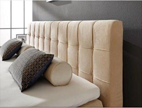Breckle Boxspringbett 200 x 200 cm Calvadore Box Stauraum 1000 TFK Big Topper Gel Premium Comfort