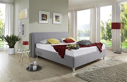 Breckle Polsterbett, Bett 140 x 200 cm Tyree Comfort 28 cm Höhe Stärke 3 cm Überstehend Textil braun