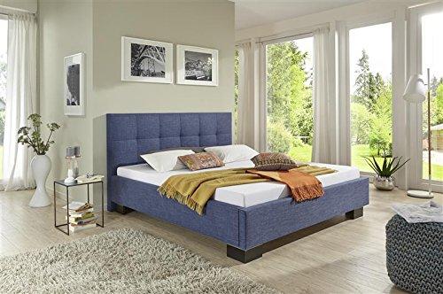 Breckle Polsterbett, Bett 180 x 200 cm Andrus Comfort 28 cm Höhe Stärke 3 cm Bündig Textil grau