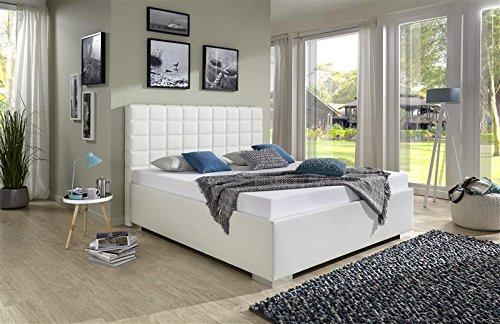 Breckle Polsterbett, Bett 200 x 200 cm Baxter Comfort 38 cm Höhe Stärke 3 cm Bündig Leder Optik schlamm comfort