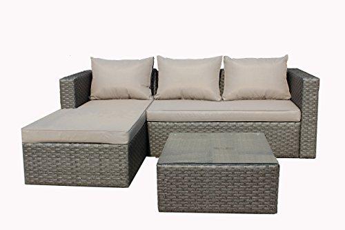 Brema-052261-Alu-Geflecht-Loungeset-3-teilig-1-Sofa-2-Sitzer-und-1-Ottomane-mit-Sitz-und-Rckenkissen-1-Tisch-mit-Glasplatte-65-x-65-x-32-cm-grau-taupe-0