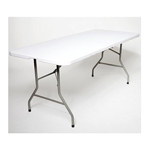 Buffettisch Klapptisch Esstisch Gartentisch Campingtisch Weiß 180cm