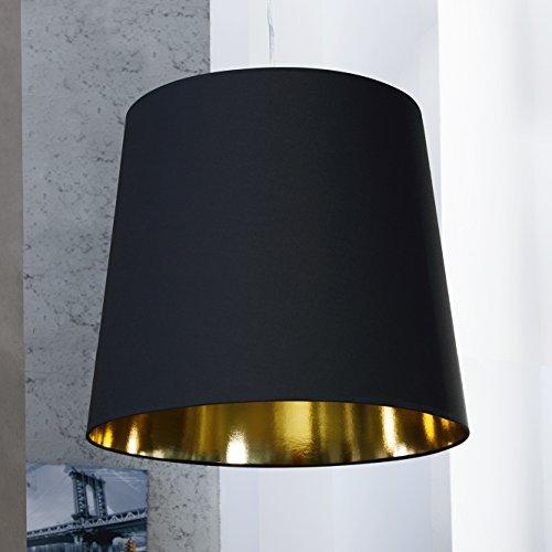 CAGÜ - XL LOUNGE DESIGNER HÄNGELAMPE HÄNGELEUCHTE [GIANT] SCHWARZ-GOLD 55cm Ø