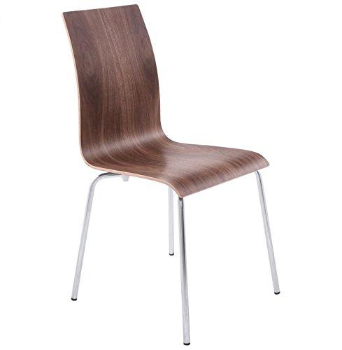 classic design stuhl f r k che oder esszimmer holz nussbaum pi tement metall finish moebel24. Black Bedroom Furniture Sets. Home Design Ideas
