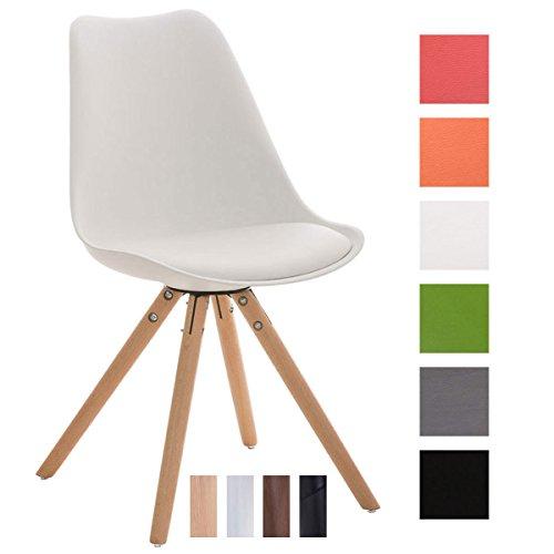 CLP-Design-Retro-Stuhl-PEGLEG-mit-hochwertiger-Polsterung-und-pflegeleichtem-Kunstlederbezug-Schalenstuhl-mit-Holzgestell-und-einer-Sitzhhe-von-46-cm-In-verschiedenen-Farben-erhltlch-0