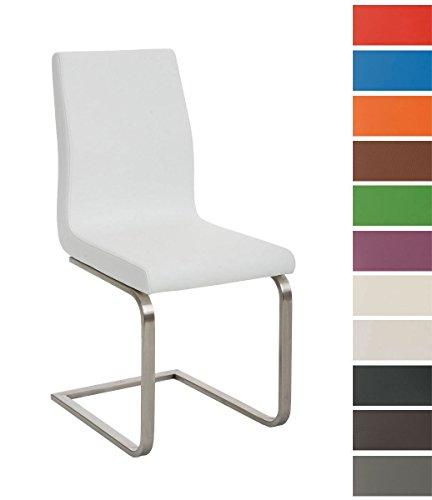 clp esszimmer stuhl belfort freischwinger stuhl mit edelstahl gestell kunstleder sitz bis zu. Black Bedroom Furniture Sets. Home Design Ideas