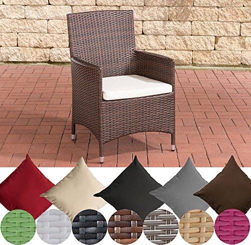 CLP-Poly-Rattan-Garten-Stuhl-JULIA-Aluminiumgestell-bis-zu-5-Rattan-Farben-5-Bezug-Farben-whlen-Rattanfarbe-Braun-meliert-Bezugfarbe-Cremewei-0