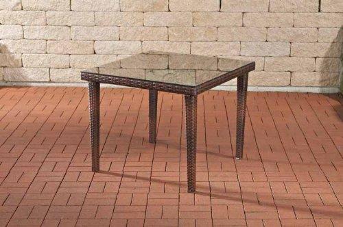 CLP-Poly-Rattan-Garten-Tisch-BARI-Esstisch-quadratisch-ALU-Gestell-Hhe-75-cm-3-Farben-3-Gren-whlbar-braun-meliert-90-x-90-cm-0