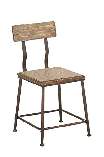 CLP exklusiver Bistrostuhl QUEENS im angesagten Industrial Design, spannender Materialmix aus Holz und Metall bronze