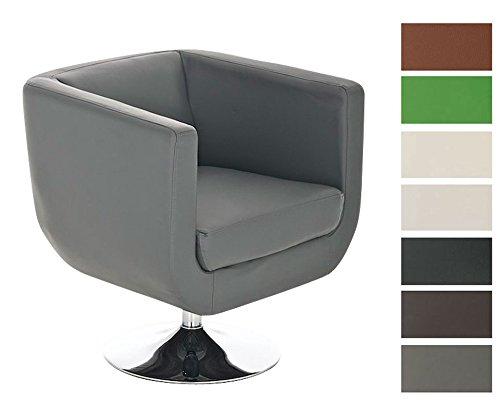 CLP-runder-Design-Leder-Loungesessel-COLORADO-im-Retro-Stil-drehbar-aus-bis-zu-7-Farben-whlen-grau-0