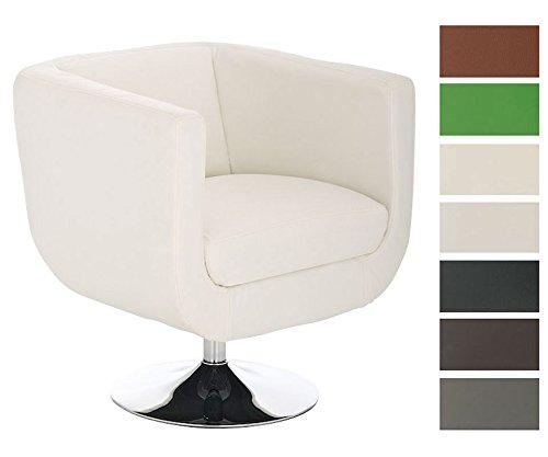 CLP-runder-Design-Leder-Loungesessel-COLORADO-im-Retro-Stil-drehbar-aus-bis-zu-7-Farben-whlen-wei-0