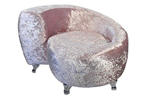 Casa-Collection-Art-for-living-by-Jnig-11111-Sofa-in-Schneckenform-Durchmesser-94-cm-Hhe-65-cm-Sitzhhe-44-cm-perle-rose-chromfarbenen-Metallfen-0