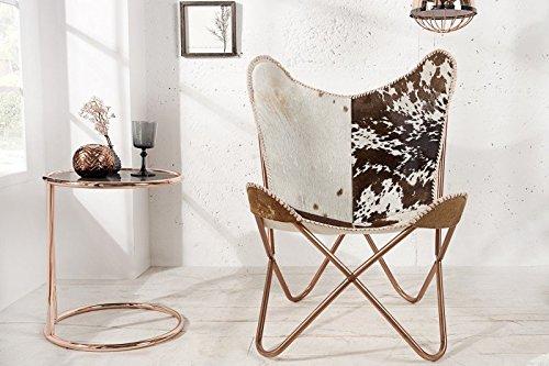 Casa-Padrino-Echtfell-Designer-Sessel-Braun-Wei-Relax-Kuhfell-Stuhl-0
