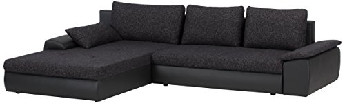 cavadore 885 polsterecke peerly longchair links 2 sitzer mit bettfunktion und bettkasten. Black Bedroom Furniture Sets. Home Design Ideas