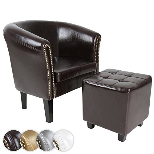 Chesterfield-Sessel-Sitzhocker-Set-Lounge-Mbel-Farbwahl-0