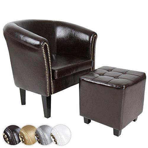 Chesterfield Sessel + Sitzhocker (Set) Lounge Möbel - Farbwahl