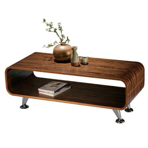 Club Couchtisch dunkel Retro Lounge Wohnzimmertisch Loungetisch Tisch 70er Holz
