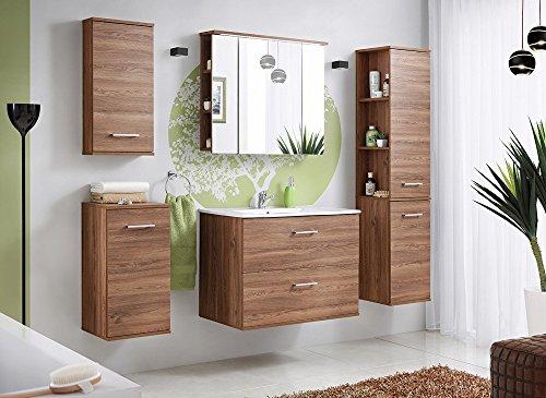 Comad-Harmony-Badmbel-Set-Komplettbad-6-teilig-in-Walnuss-Dekor-mit-Waschtisch-80-cm-Spiegelschrank-mit-LED-Beleuchtung-0