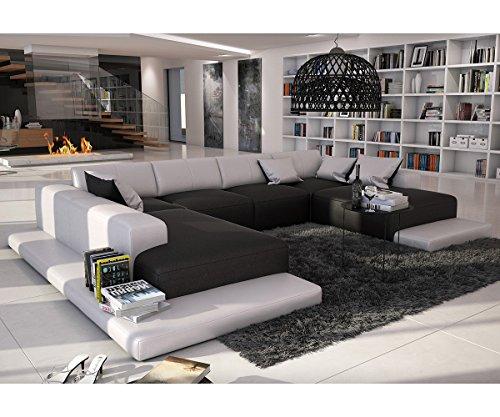 Couch-Bethany-Schwarz-Weiss-360x271-XXL-Sofa-Lounge-Ottomane-Links-0-0