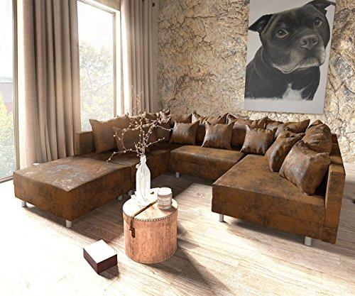 Couch-Clovis-XXL-Braun-300x185-Hocker-Kissen-Wohnlandschaft-0