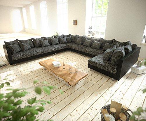 Couch-Clovis-XXL-Schwarz-Ottomane-Links-Wohnlandschaft-modular-0