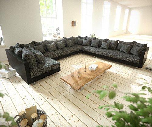 Couch-Clovis-XXL-Schwarz-Ottomane-Rechts-Wohnlandschaft-modulares-Sofa-0
