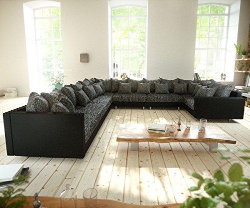 Couch-Clovis-XXL-Schwarz-mit-Armlehne-Ottomane-Links-Wohnlandschaft-0