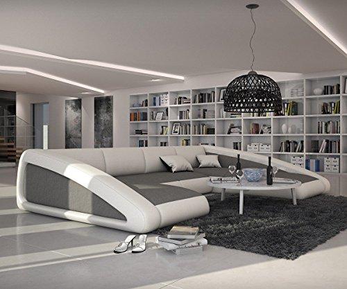 Couch-Kerry-Weiss-Grau-355x245-cm-Ottomane-Rechts-Wohnlandschaft-0