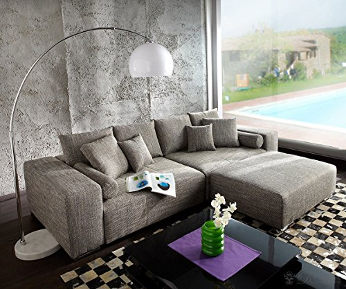 Couch-Marbeya-Hellgrau-290x110-cm-mit-Schlaffunktion-Hocker-0