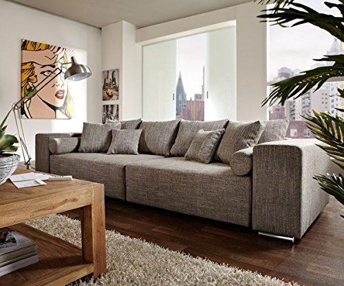 Couch-Marbeya-Hellgrau-290x110cm-mit-Schlaffunktion-Big-Sofa-0