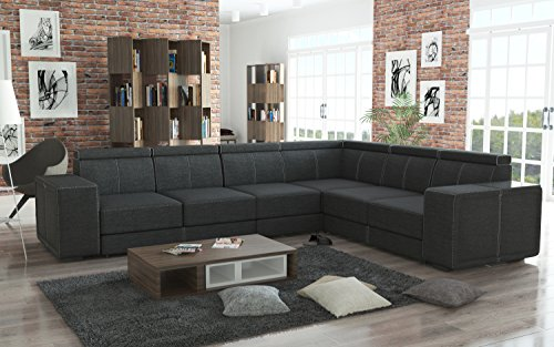 Couchgarnitur Couch Garnitur Sofa CARI in Boss 12 Polsterecke Wohnlandschaft
