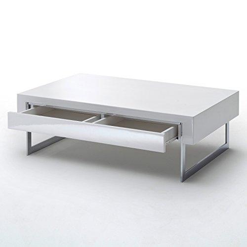 couchtisch cooper mit schubkasten hochglanz lack weiss tisch beistelltisch loungetisch m bel24. Black Bedroom Furniture Sets. Home Design Ideas