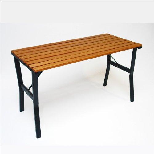 DEMA-Gartentisch-Modern-110-cm-HolzMetall-0