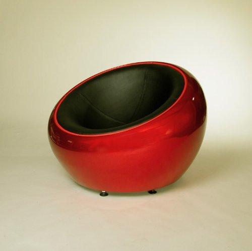 DESIGN-LOUNGE-BALL-SCHALEN-SESSEL-retro-mbel-stuhl-C12-rot-schwarz-0