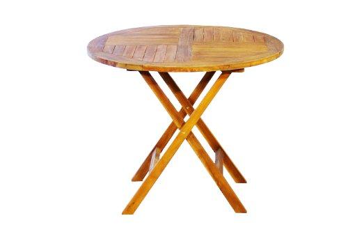 DIVERO-Balkontisch-Tisch-Beistelltisch-Holz-Akazie-klappbar-90-cm-Gartentisch-0