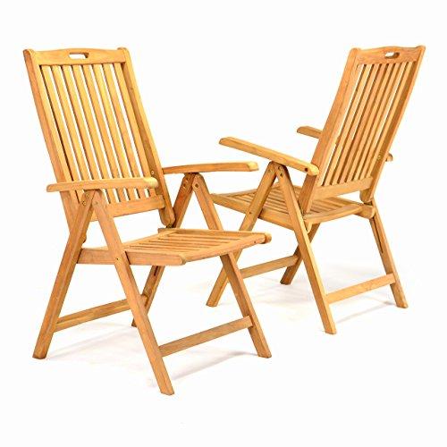 divero gl05005sl 2er set gartenstuhl hochlehner klappstuhl teakstuhl teak holz stuhl mit. Black Bedroom Furniture Sets. Home Design Ideas